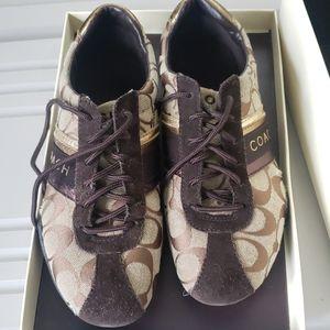 Brown Coach Tennis Shoes